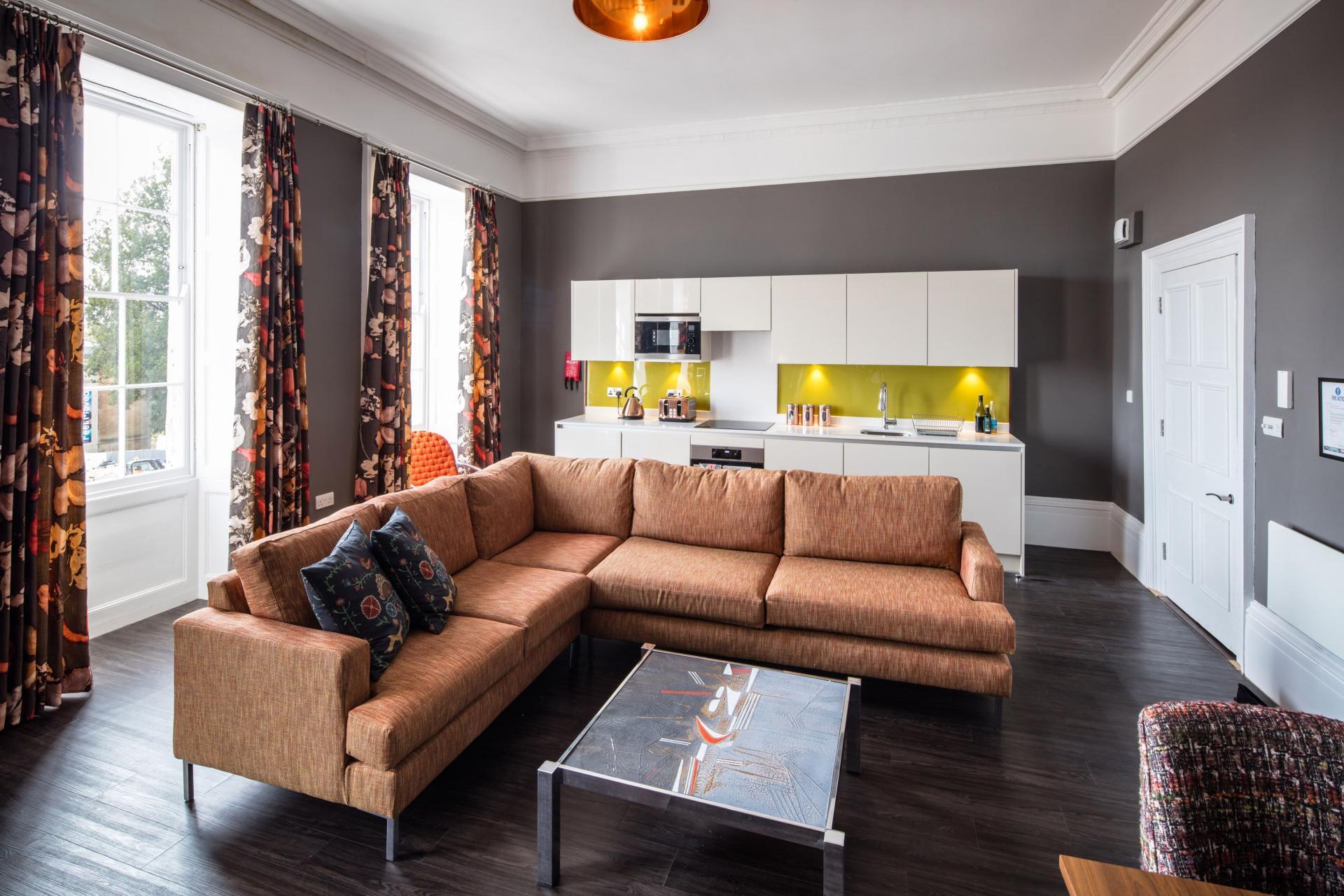 Sofa at Charlotte Rise Apartments, Brandon, Bristol - Citybase Apartments
