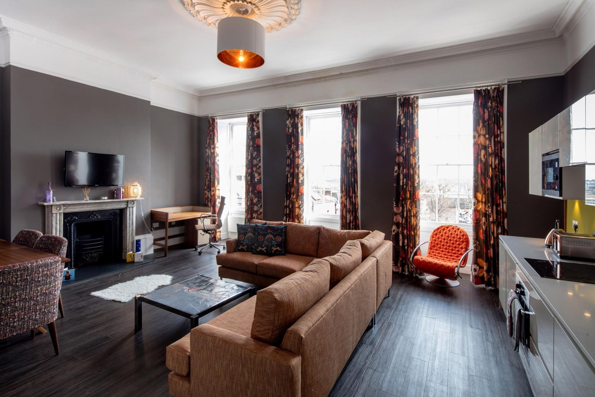 Lounge at Charlotte Rise Apartments, Brandon, Bristol - Citybase Apartments