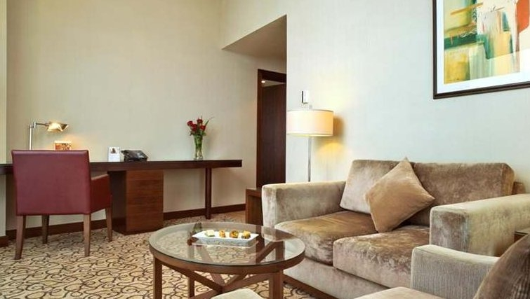 Sophisticated living area in Khalidiya Palace Rayhaan Apartments - Citybase Apartments