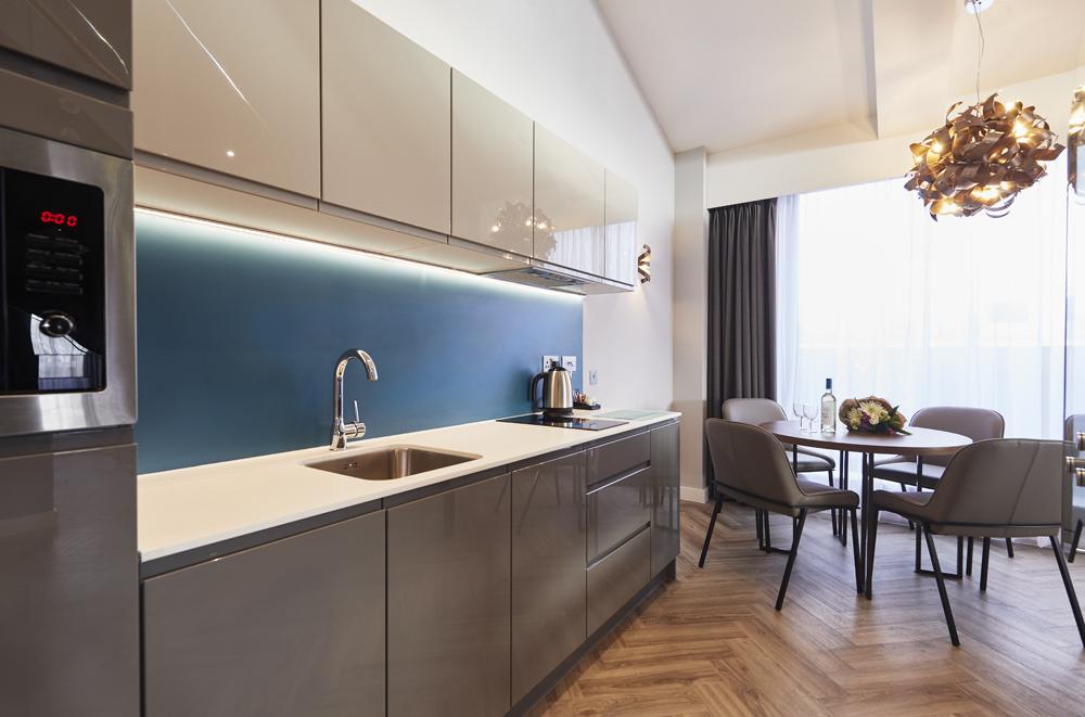 Kitchen at Roomzzz Aparthotel York, Centre, York - Citybase Apartments