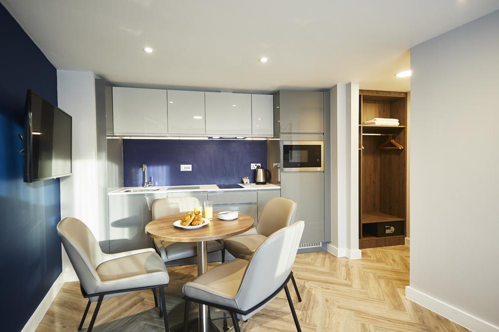 Table at Roomzzz Aparthotel York, Centre, York - Citybase Apartments