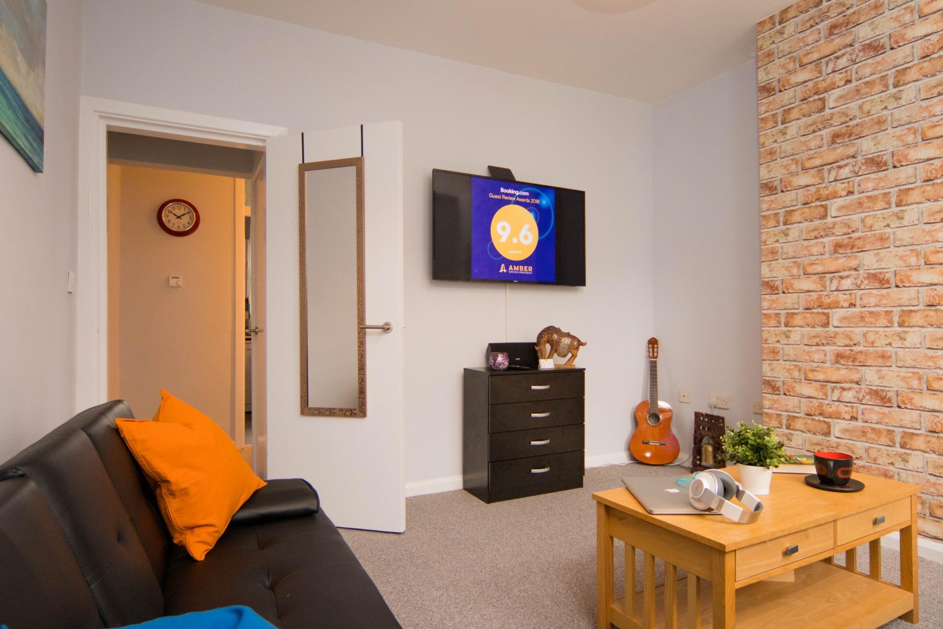 TV at Limpenny House, Radford, Nottingham - Citybase Apartments
