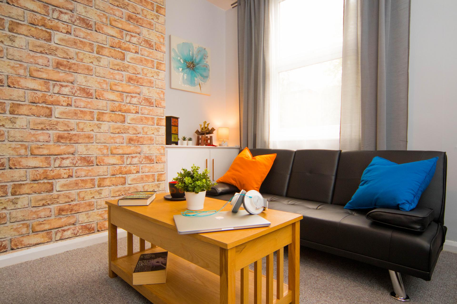 Coffee table at Limpenny House, Radford, Nottingham - Citybase Apartments