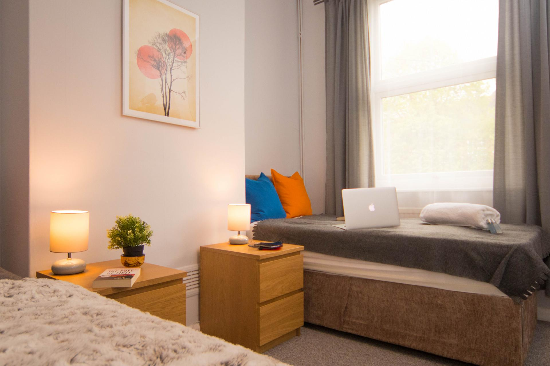Bedside table at Limpenny House, Radford, Nottingham - Citybase Apartments