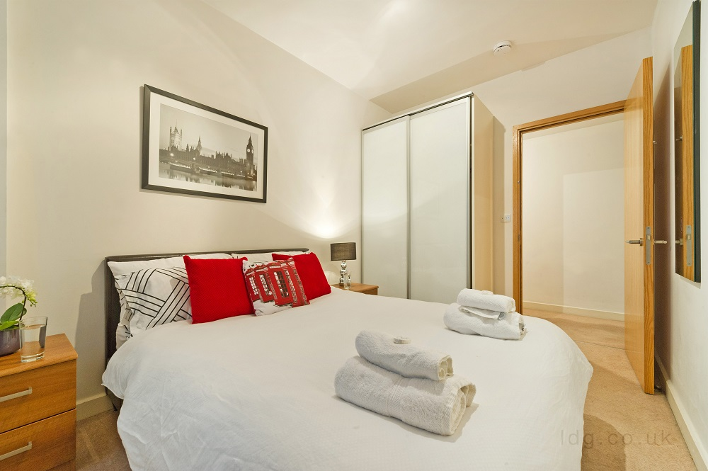Bedroom at Alfred Place Apartments, Fitzrovia, London - Citybase Apartments