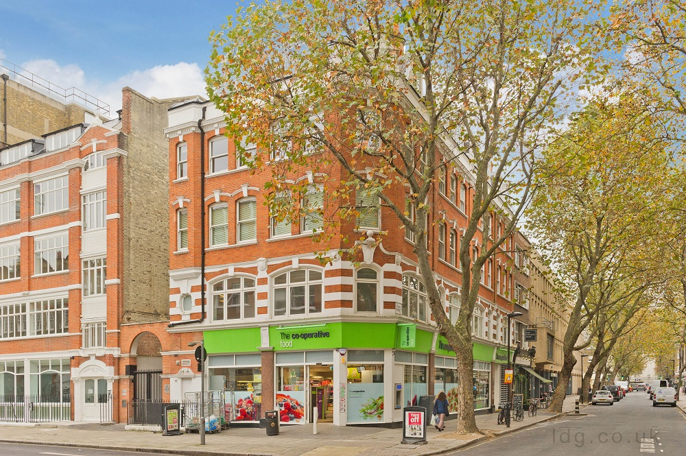 Exterior of Alfred Place Apartments, Fitzrovia, London - Citybase Apartments