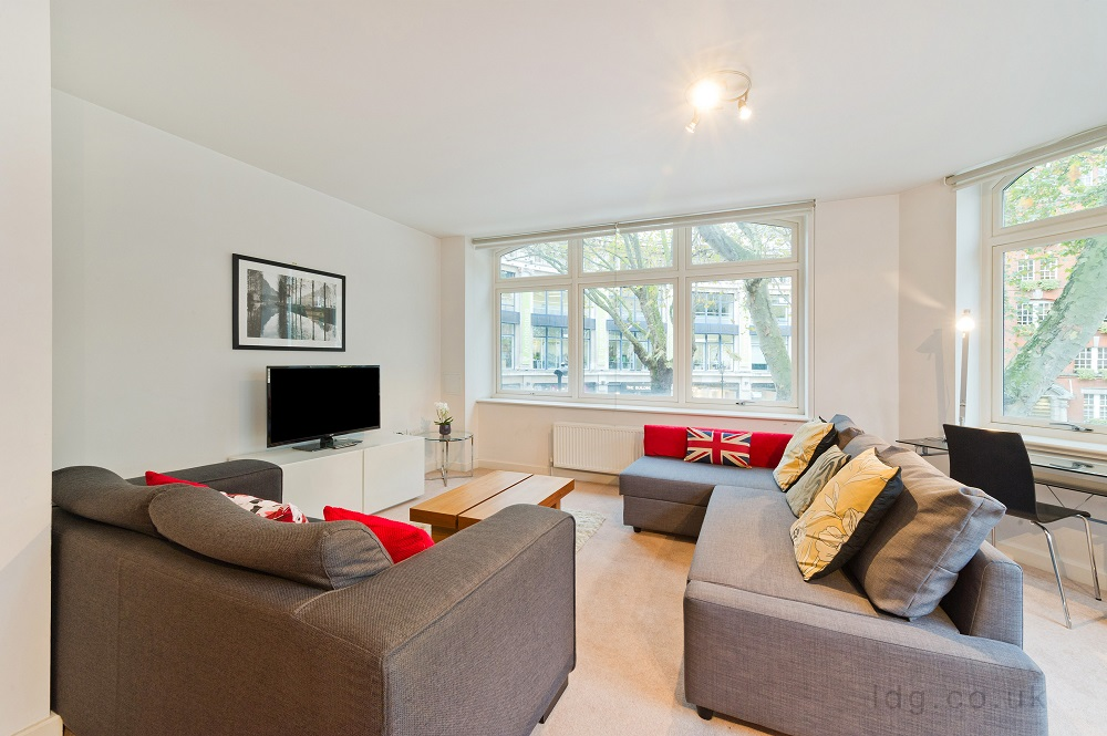 TV at Alfred Place Apartments, Fitzrovia, London - Citybase Apartments