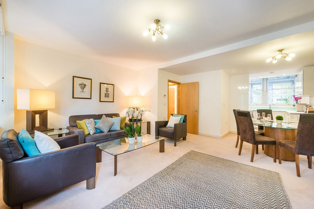 Open-plan at Alfred Place Apartments, Fitzrovia, London - Citybase Apartments