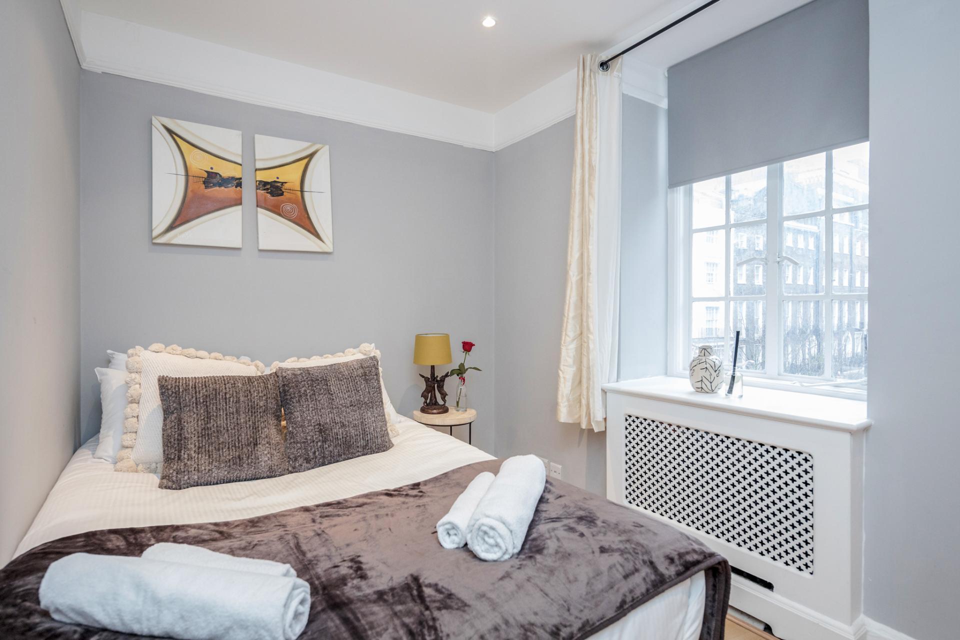 Bed at Marylebone Luxury Apartments, Marylebone, London - Citybase Apartments