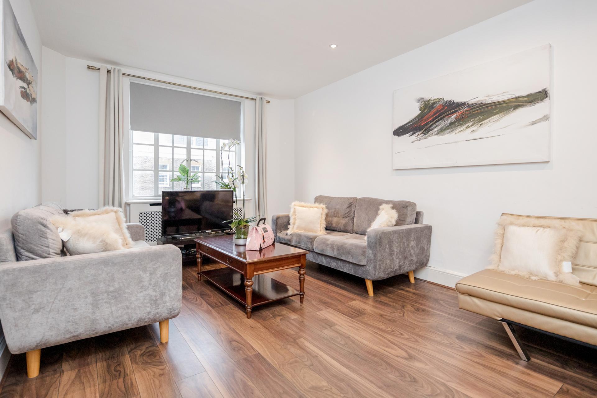 Lounge at Marylebone Luxury Apartments, Marylebone, London - Citybase Apartments