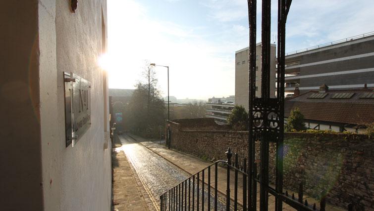 Entrance to Lower Park Apartments, Brandon, Bristol - Citybase Apartments