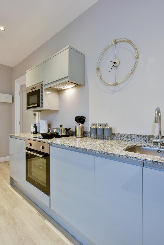 Kitchen at Meridian Suites, Brandon, Bristol - Citybase Apartments