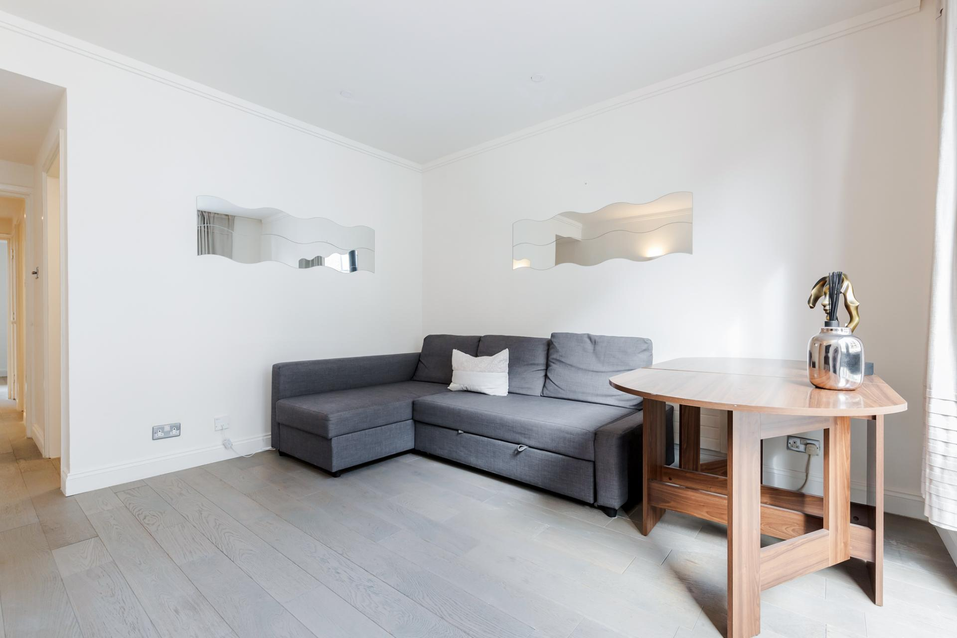 Sofa at Earls Court Serviced Apartment, Kensington, London - Citybase Apartments