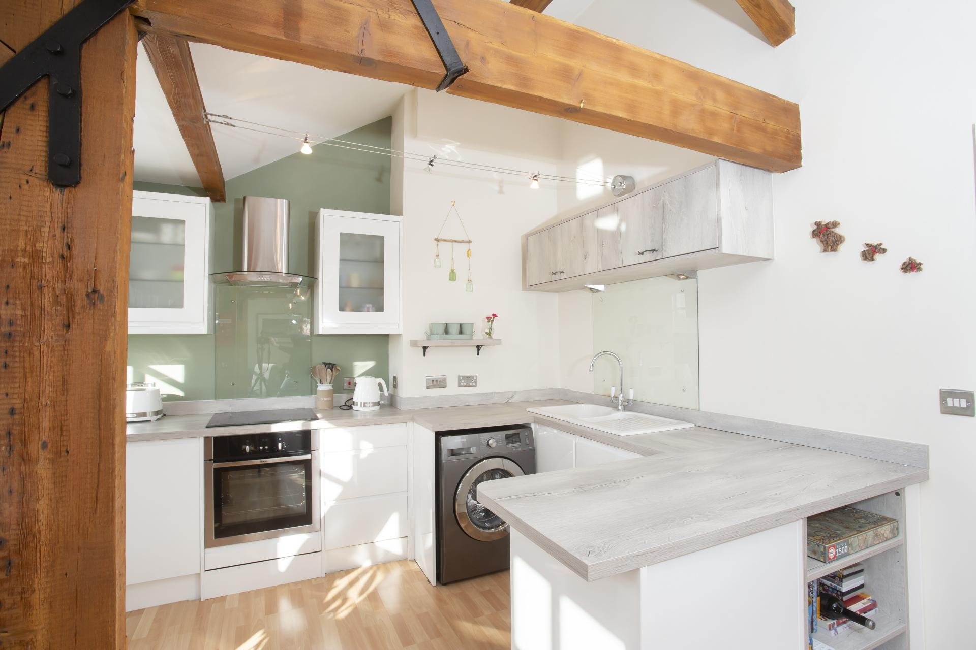 Kitchen at The Nutshell Apartment, Heworth, York - Citybase Apartments