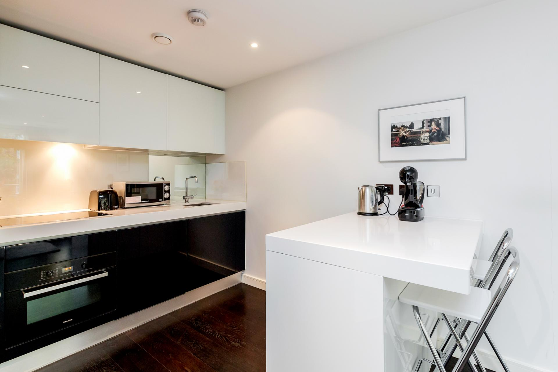 Breakfast bar at Chelsea Serviced Apartments, Chelsea, London - Citybase Apartments