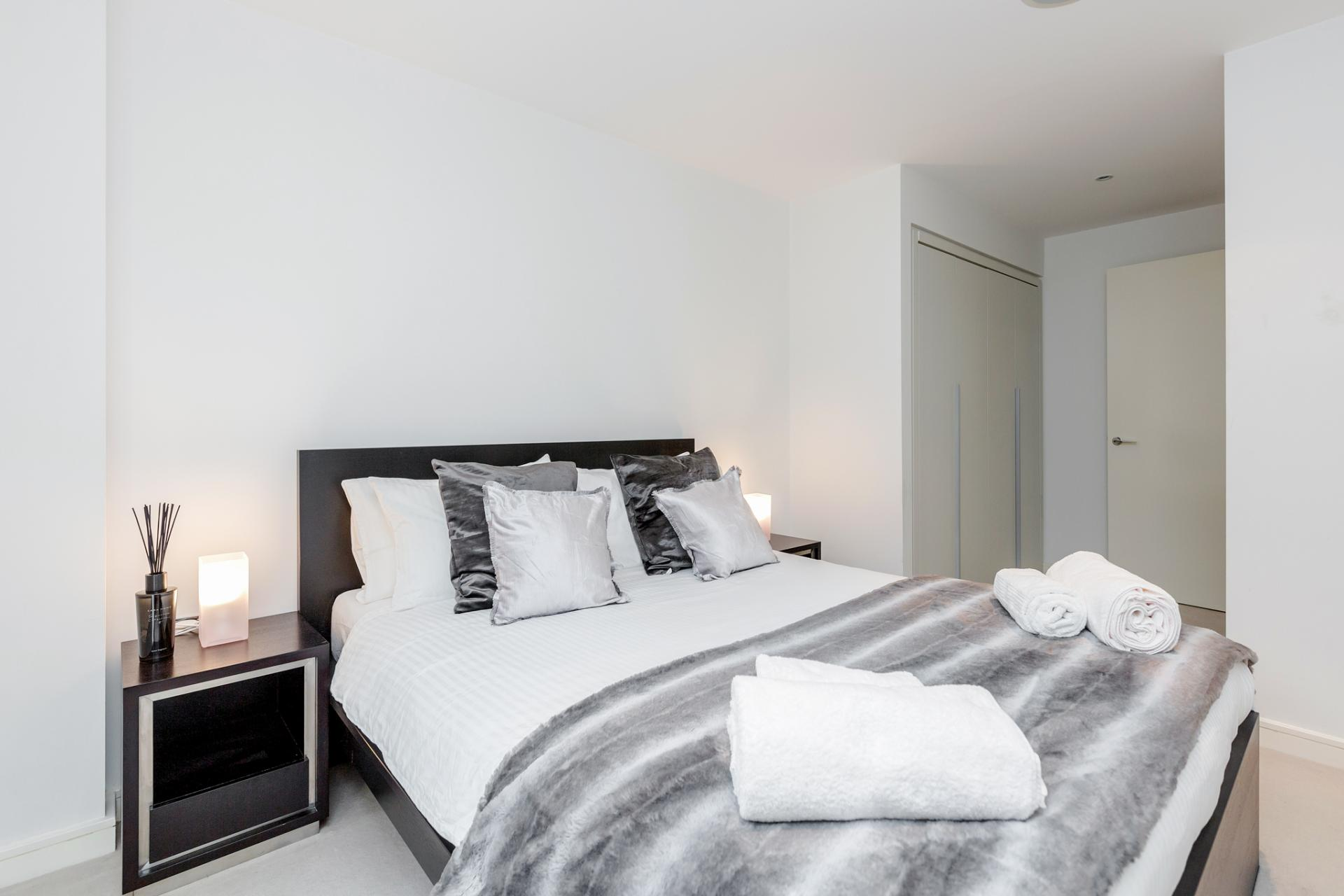 Bedroom at Chelsea Serviced Apartments, Chelsea, London - Citybase Apartments