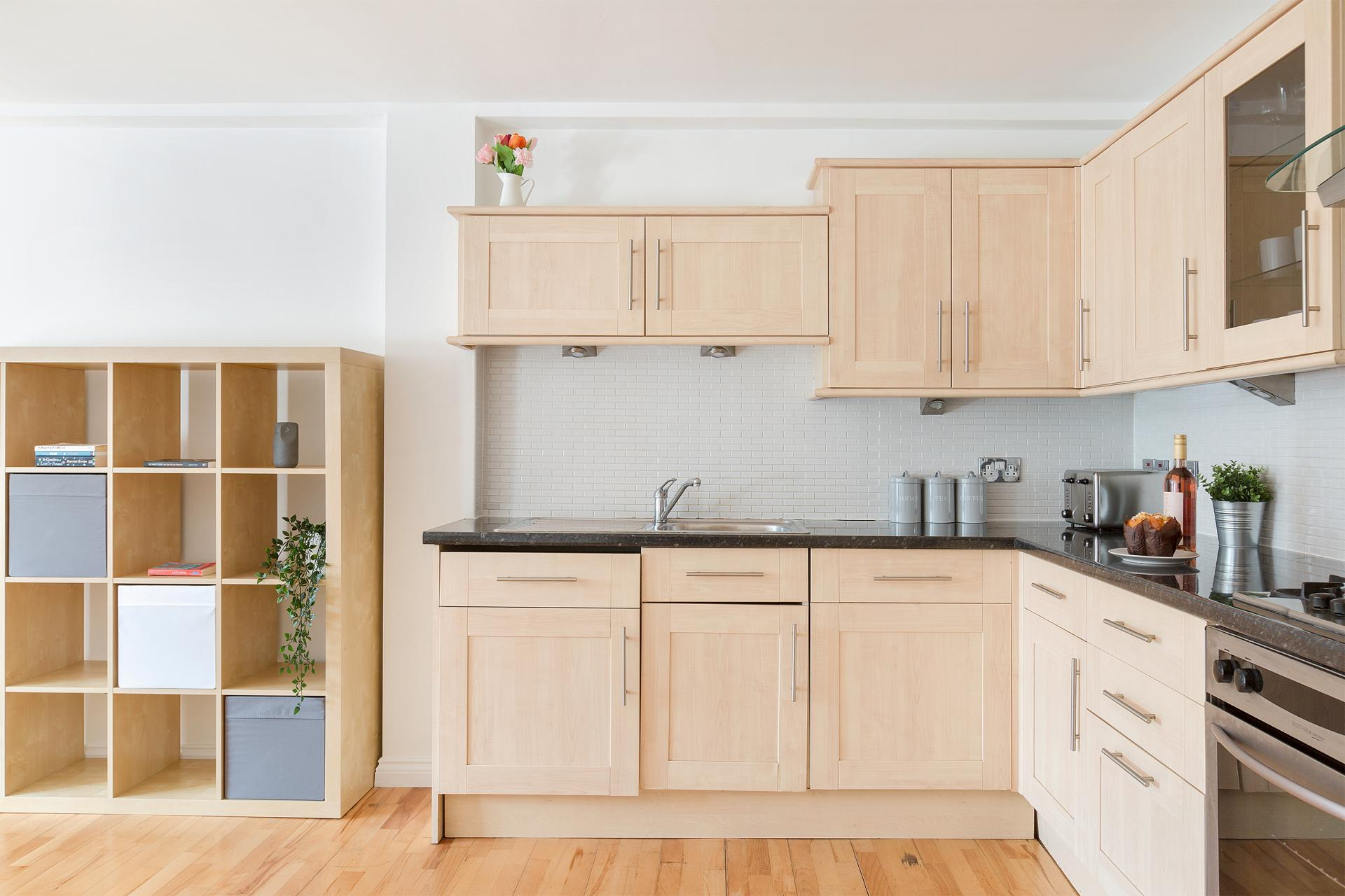 Kitchen at Serenity Apartment, Whitechapel, London - Citybase Apartments