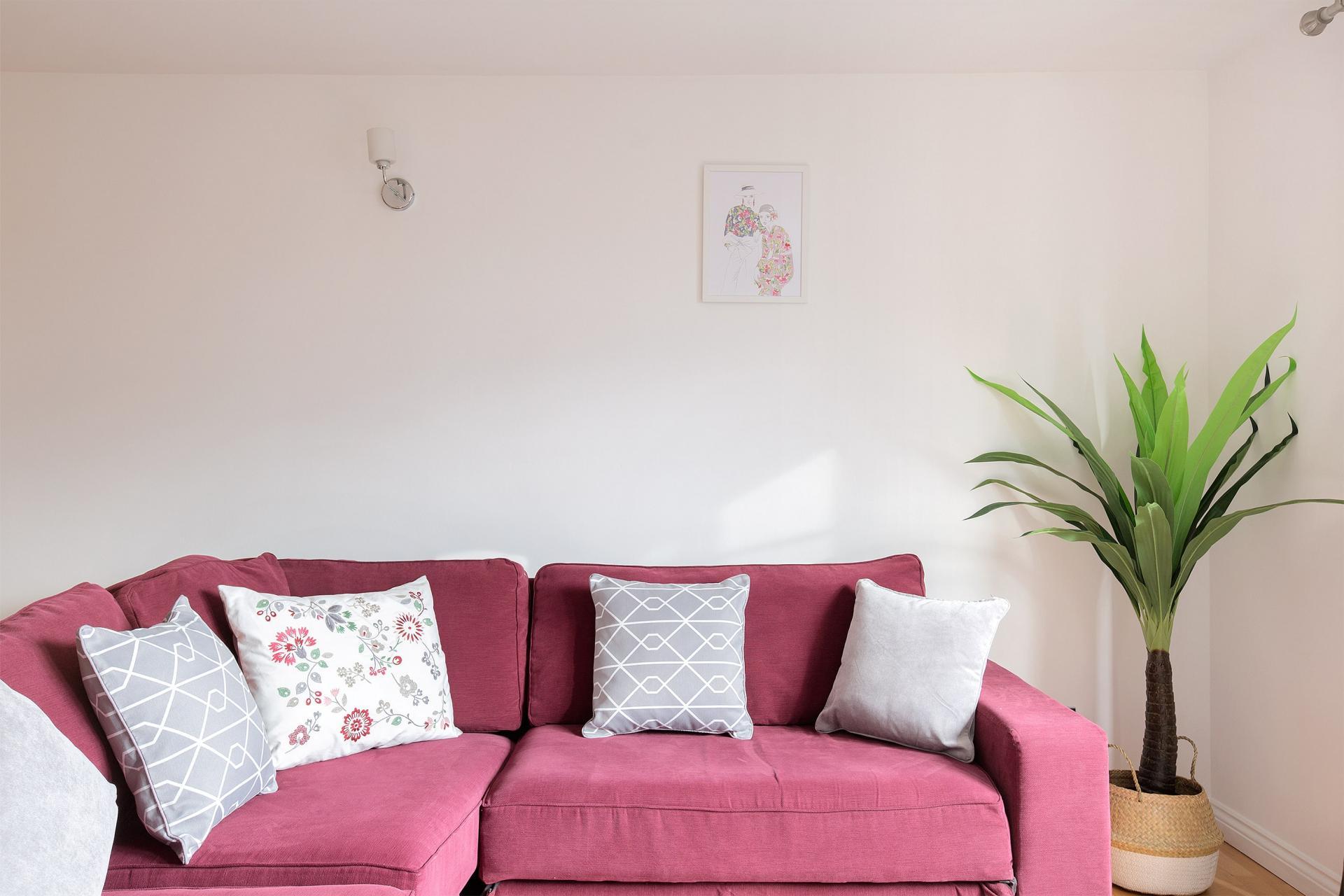 Sofa at Serenity Apartment, Whitechapel, London - Citybase Apartments