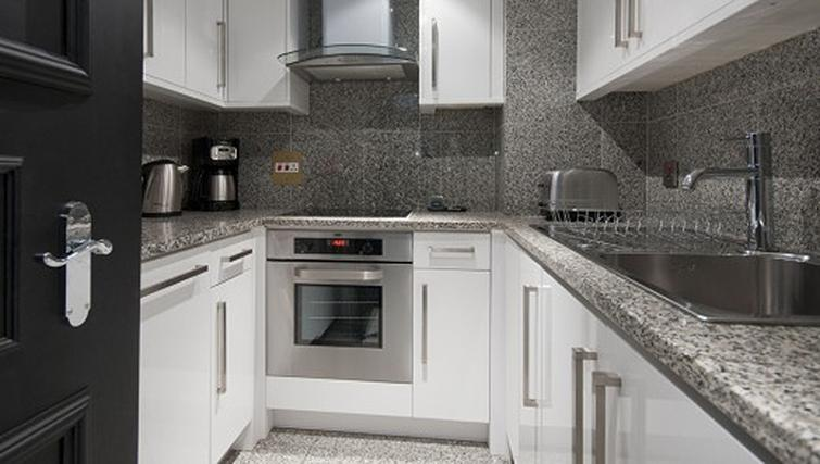Kitchen in a 1 bed at Mayfair House Apartments - Citybase Apartments