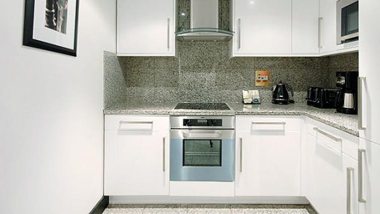 Kitchen in 3 bed at Mayfair House Apartments - Citybase Apartments