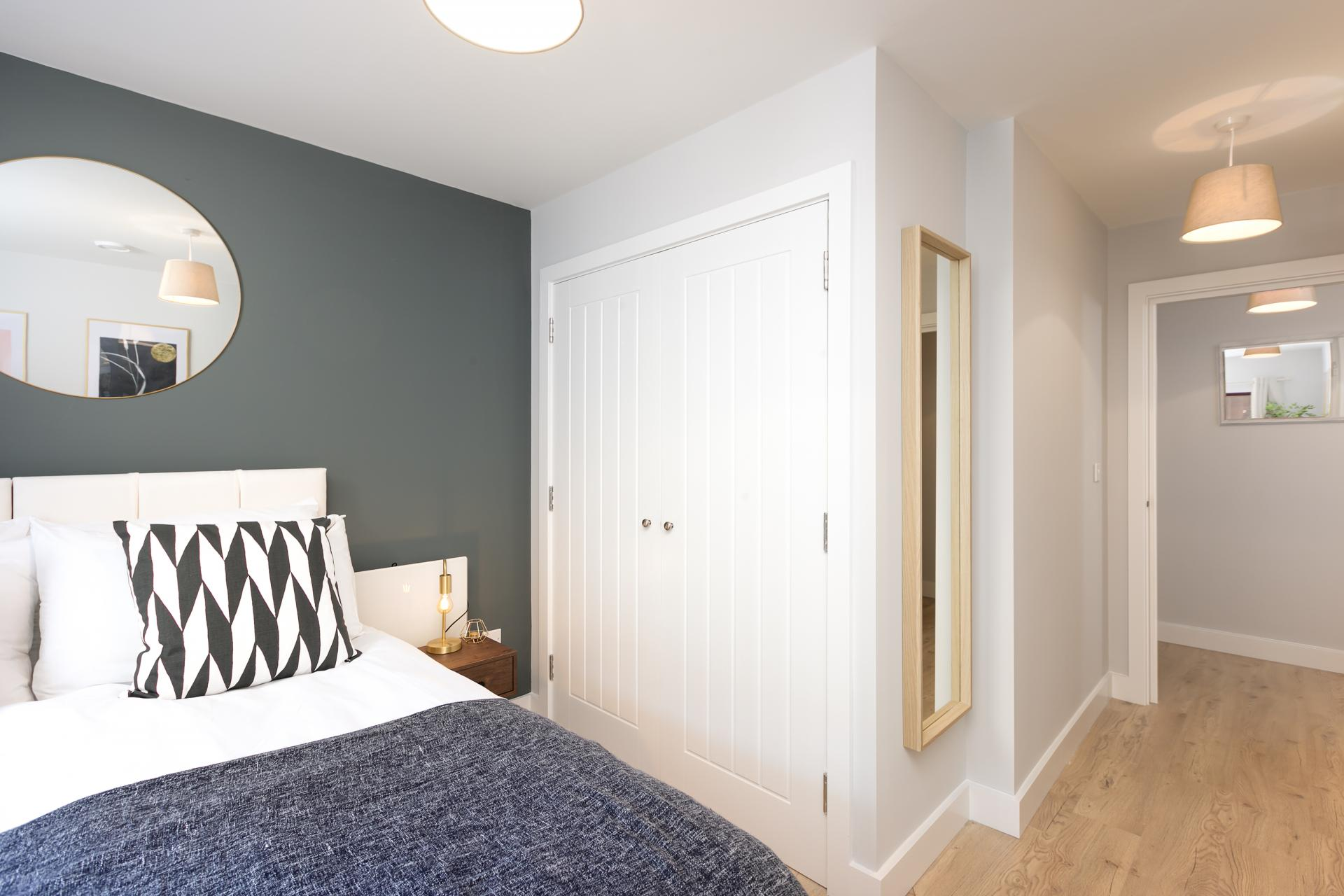 Bed at Wesley Gate Apartments, Centre, Reading - Citybase Apartments