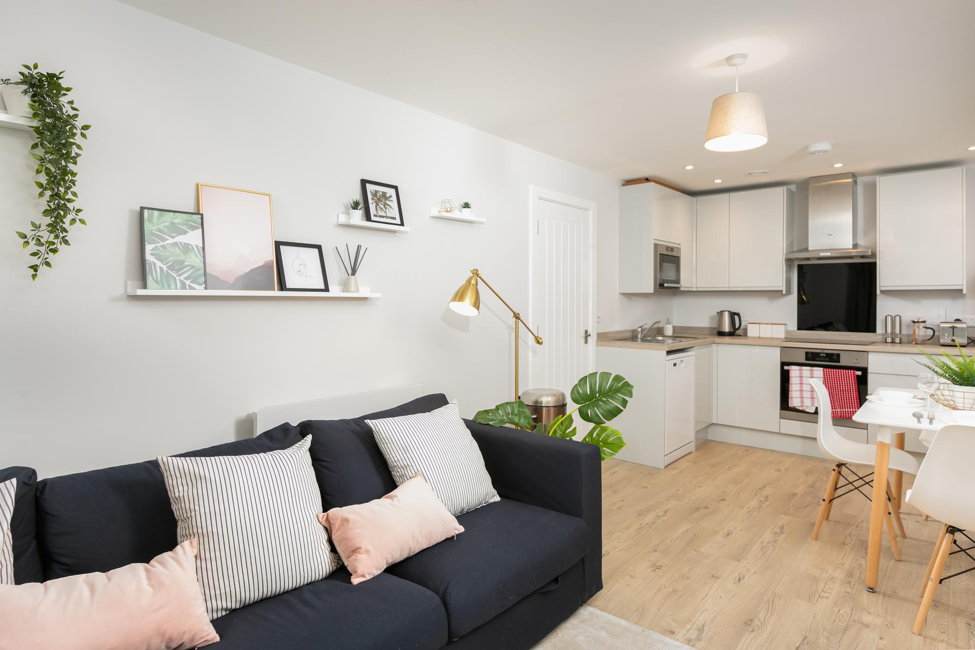 Open plan space at Wesley Gate Apartments, Centre, Reading - Citybase Apartments