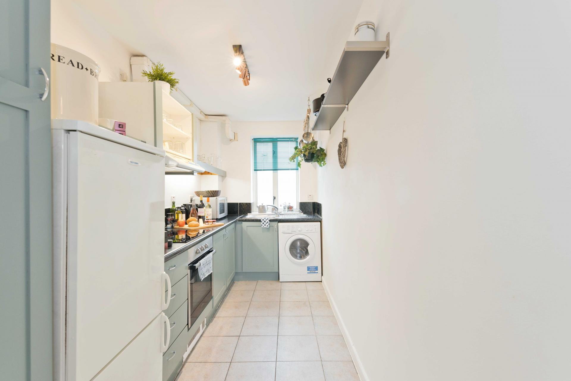 Kitchen at Crow Street Apartment, Temple Bar, Dublin - Citybase Apartments