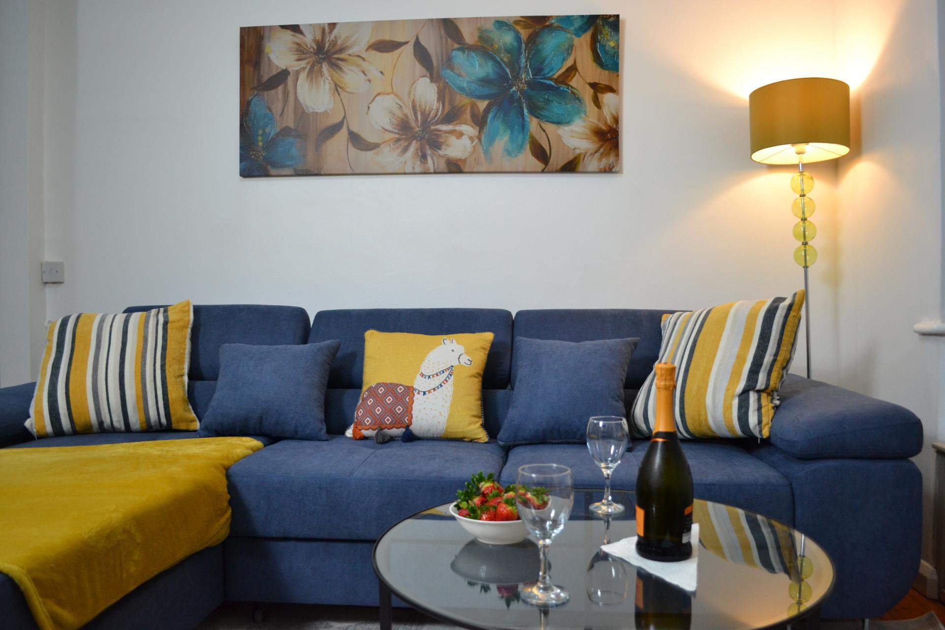 Sofa at Kendal Way Home, Chesterton, Cambridge - Citybase Apartments