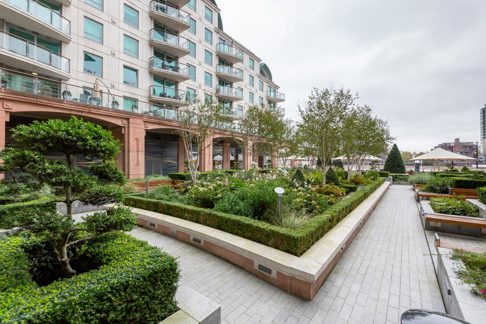Exterior of St Georges Wharf Apartment, Vauxhall, London - Citybase Apartments