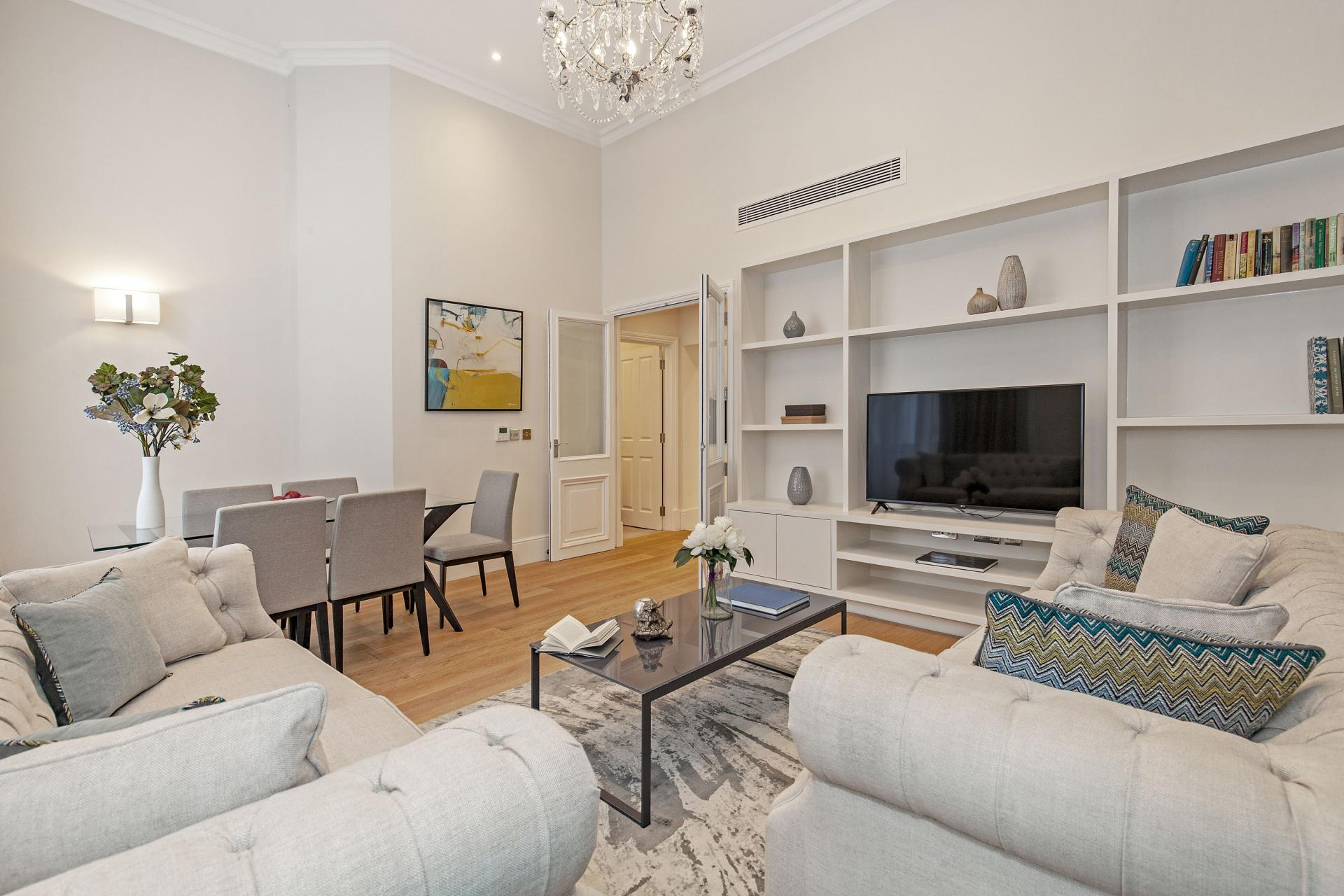 Living room at Chesham Court, Belgravia, London - Citybase Apartments
