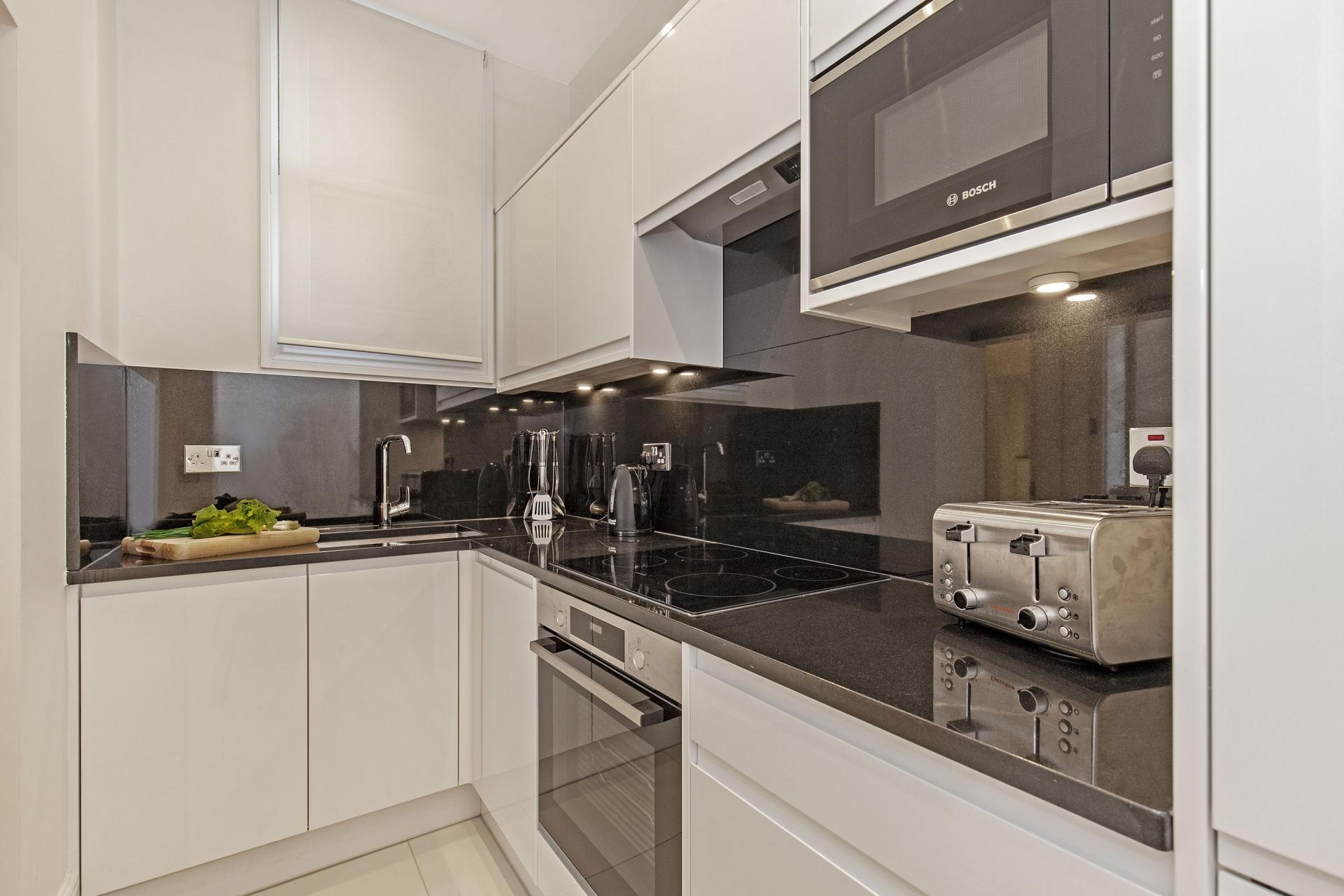 Kitchen at Chesham Court, Belgravia, London - Citybase Apartments