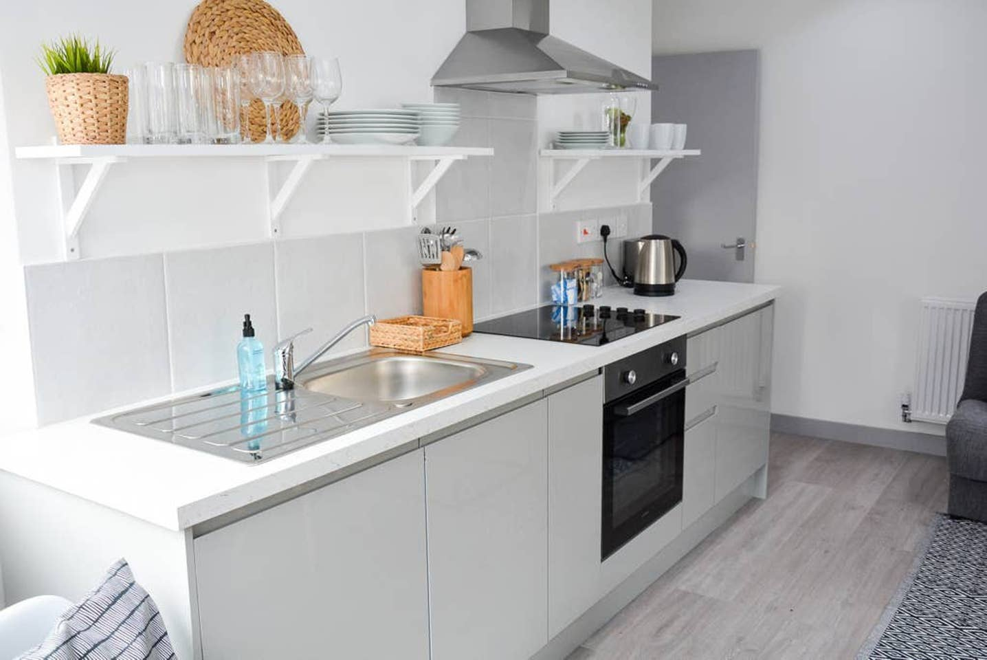 Kitchen at Pearl House Serviced Apartments, Roath, Cardiff - Citybase Apartments