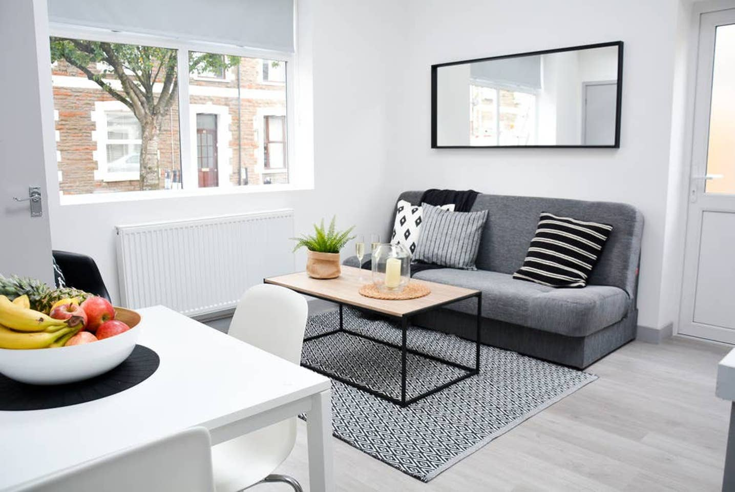 Sofa at Pearl House Serviced Apartments, Roath, Cardiff - Citybase Apartments