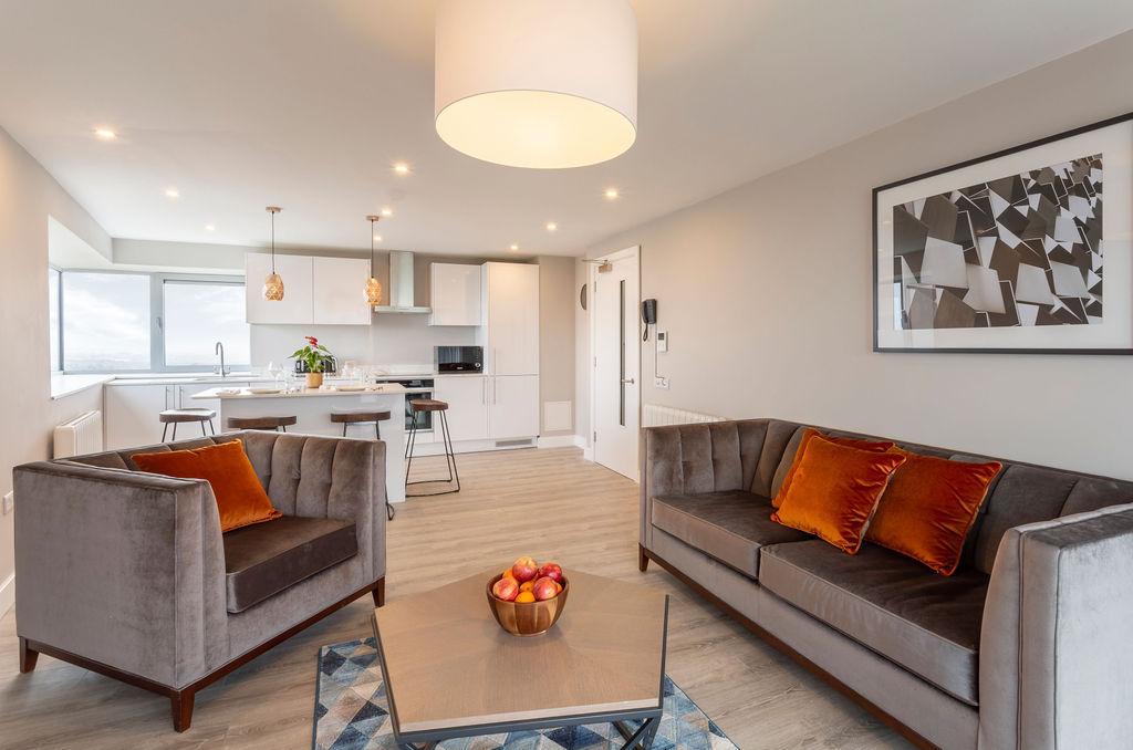 Living area at Metro Hotel Dublin Airport, Ballymun, Dublin - Citybase Apartments