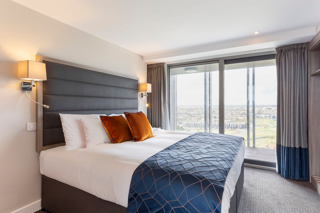 Bedroom at Metro Hotel Dublin Airport, Ballymun, Dublin - Citybase Apartments