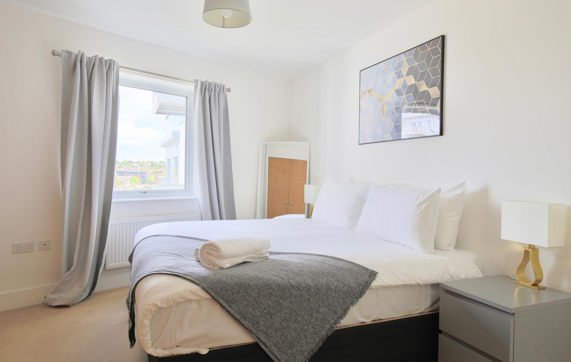 Bedroom at Austen House, Centre, Guildford - Citybase Apartments