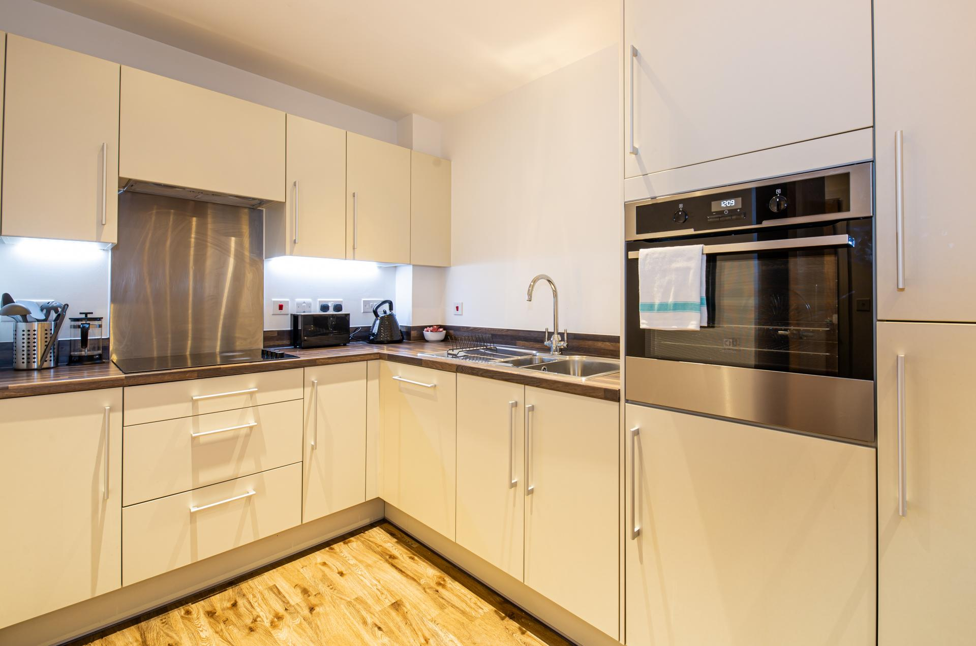 Modern kitchen at Austen House, Centre, Guildford - Citybase Apartments