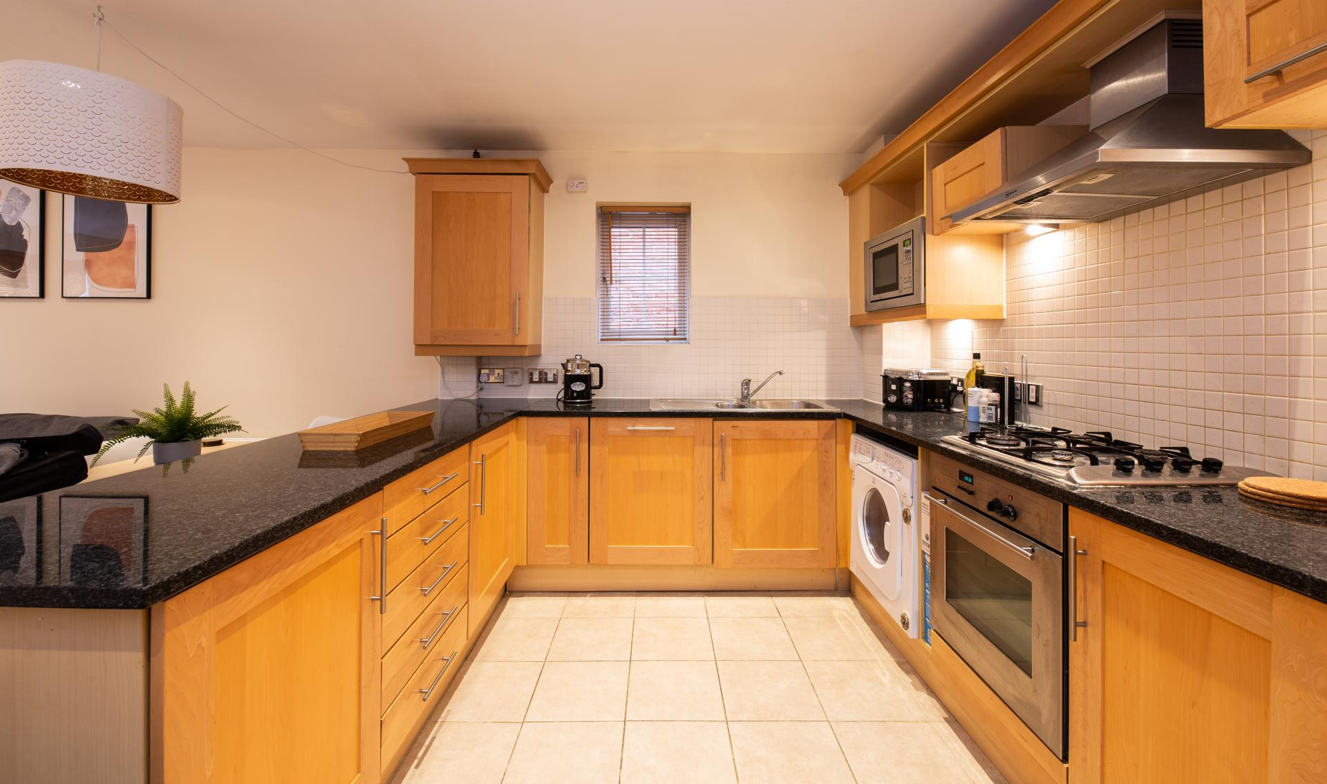 Fully Equipped Kitchen at Guildown Court Apartment, Centre, Guildford - Citybase Apartments