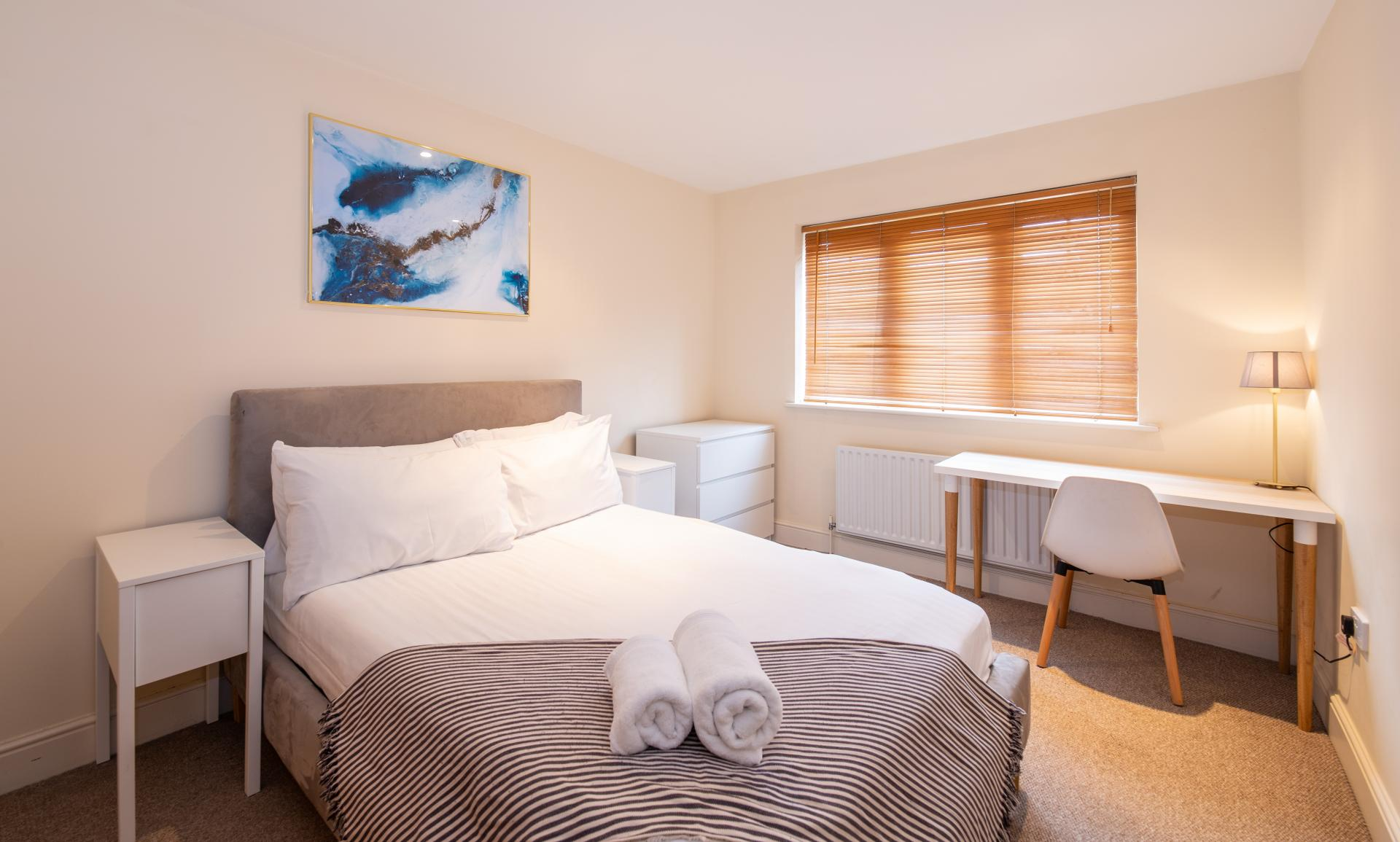 Second Bedroom at Guildown Court Apartment, Centre, Guildford - Citybase Apartments