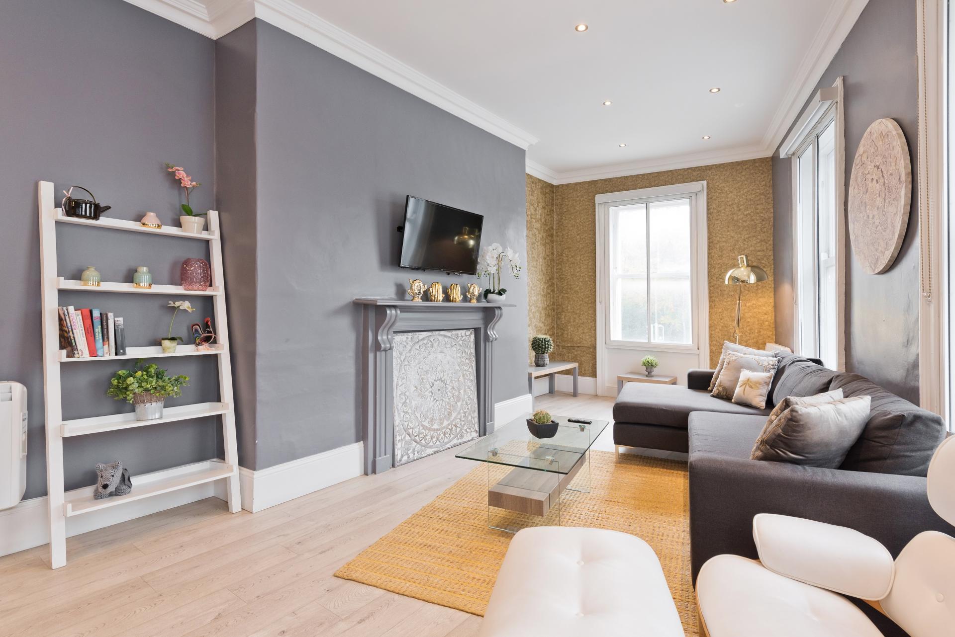 Living area at Dawson Street Apartments, Portobello, Dublin - Citybase Apartments