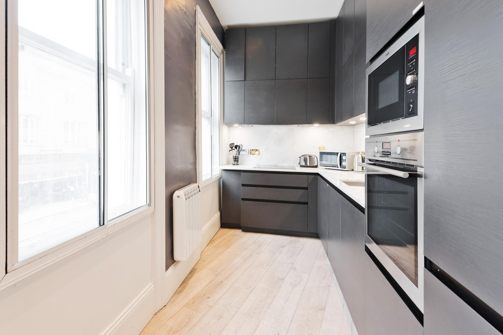 Kitchen at Dawson Street Apartments, Portobello, Dublin - Citybase Apartments