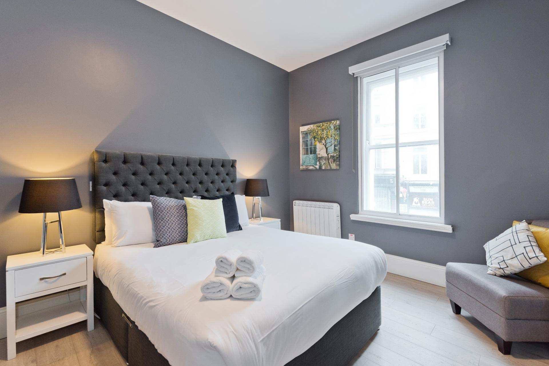 Light bedroom at Dawson Street Apartments, Portobello, Dublin - Citybase Apartments
