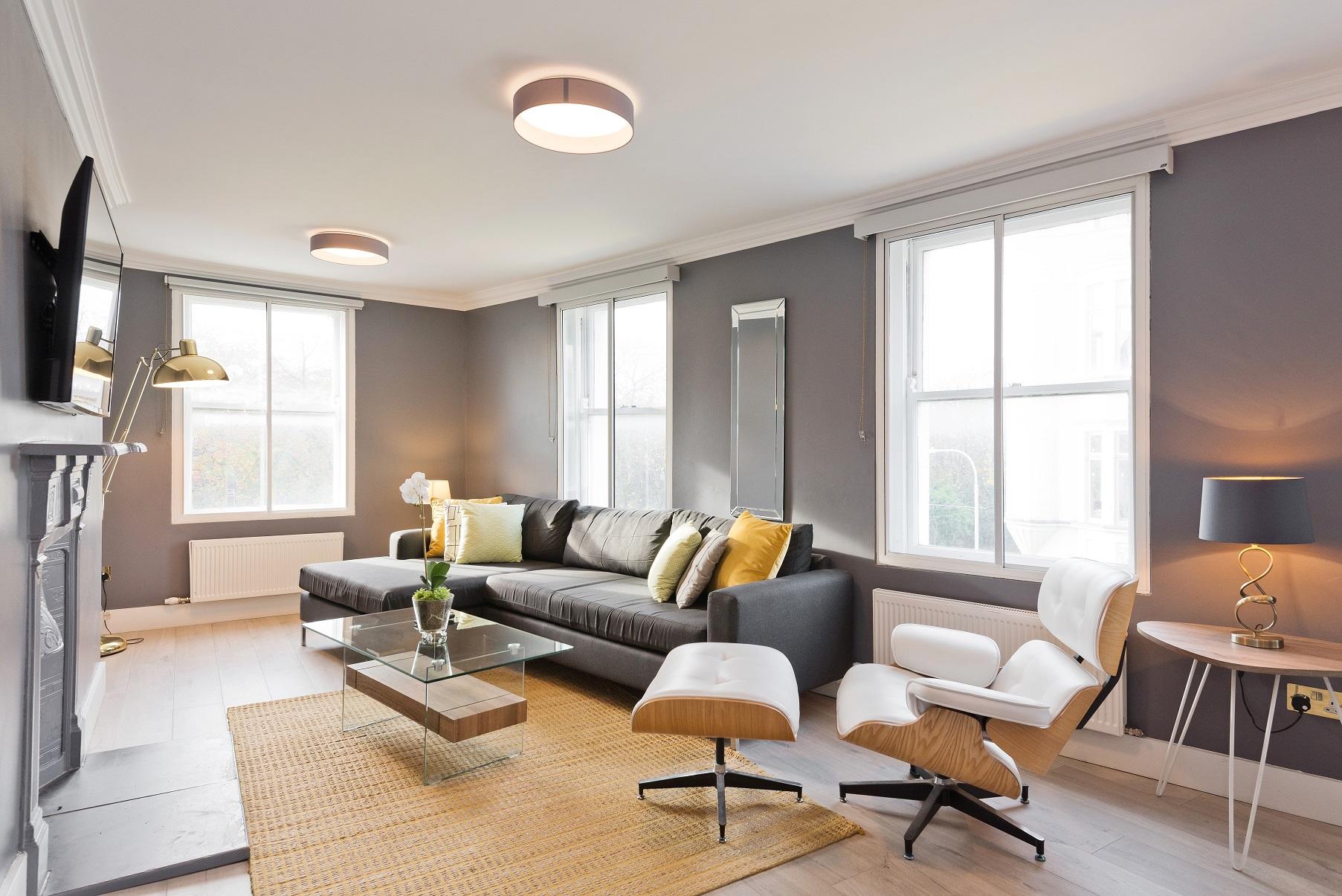 Spacious living area at Dawson Street Apartments, Portobello, Dublin - Citybase Apartments