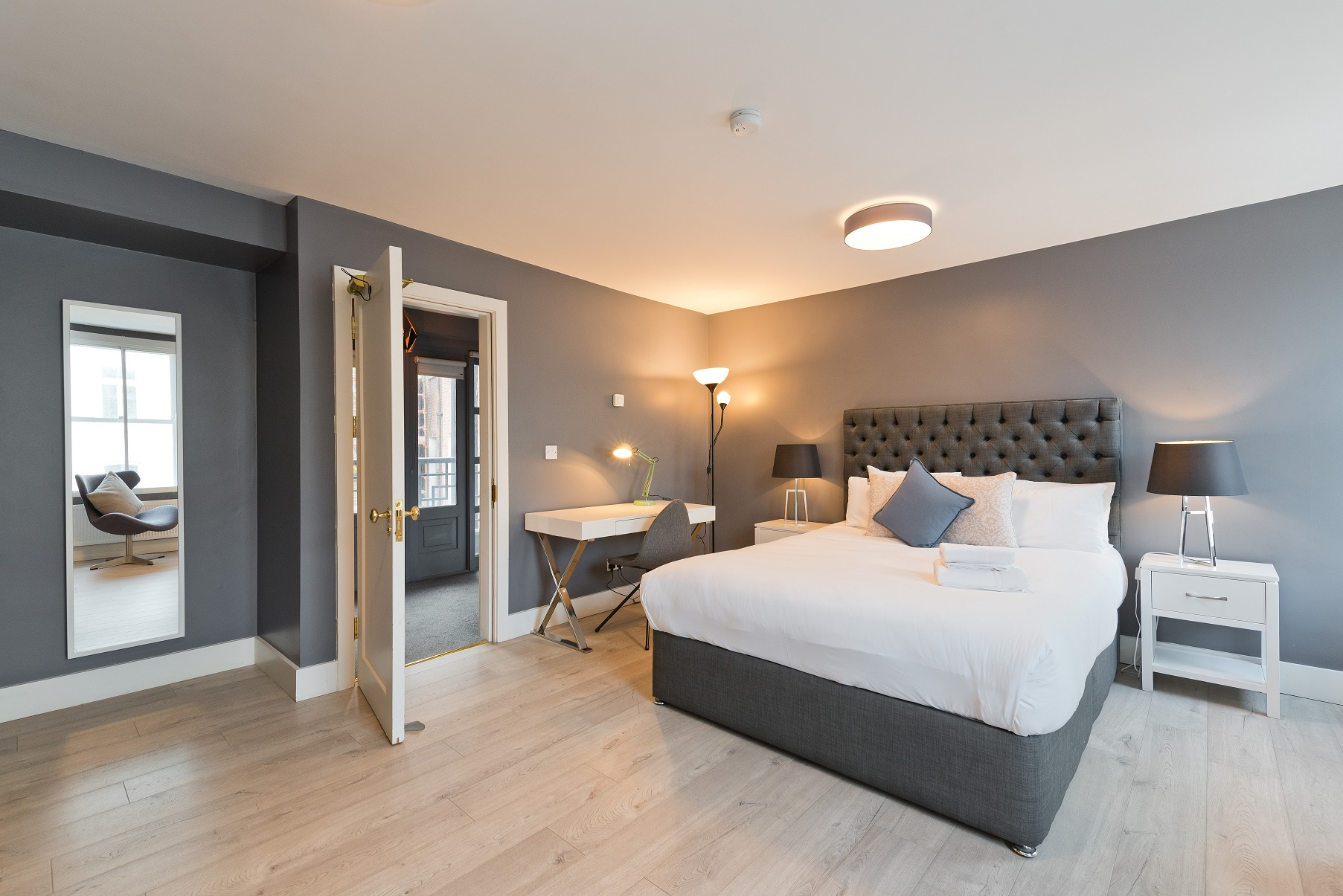 Large bedroom at Dawson Street Apartments, Portobello, Dublin - Citybase Apartments