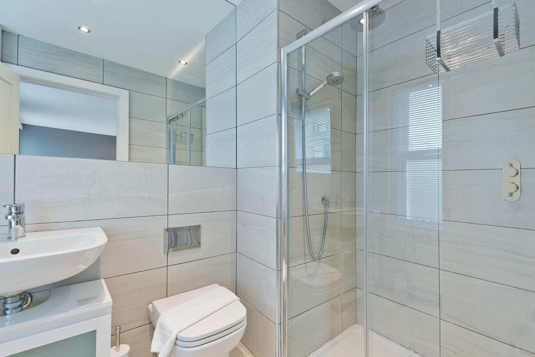 Shower at Dawson Street Apartments, Portobello, Dublin - Citybase Apartments