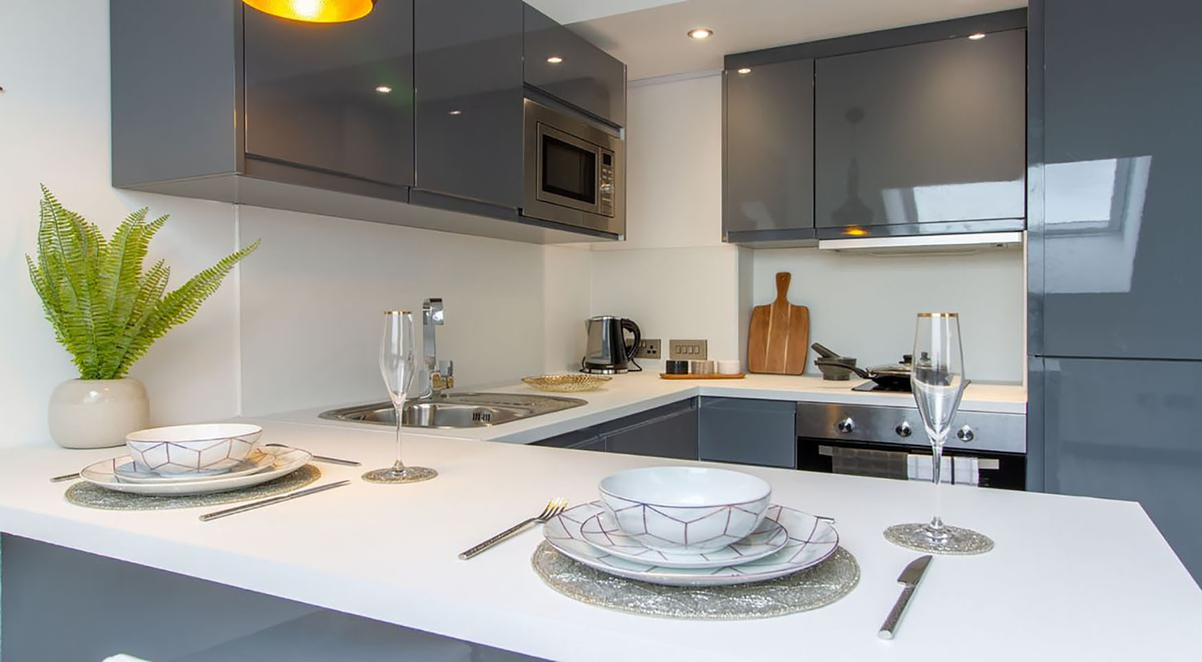 Dining area at The Residence Coventry, Centre, Newmarket - Citybase Apartments