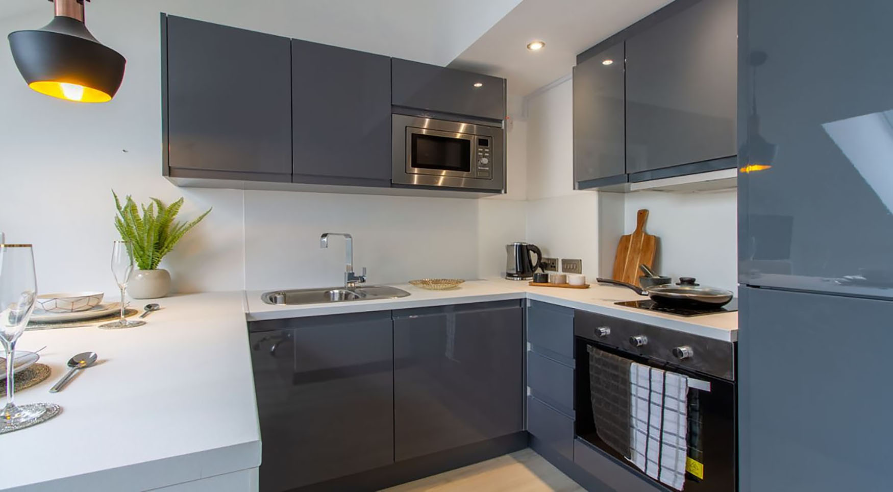 Kitchen at The Residence Coventry, Centre, Newmarket - Citybase Apartments