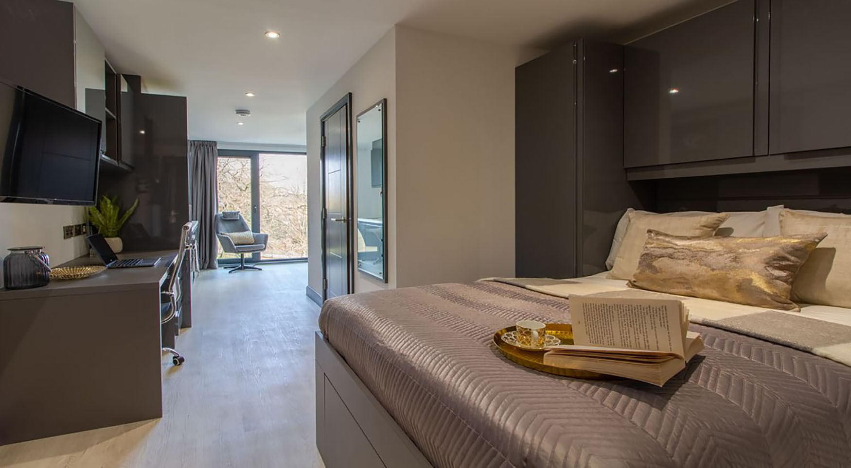 Breakfast in bed atThe Residence Coventry, Centre, Newmarket - Citybase Apartments
