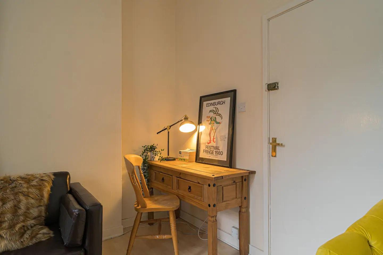 Work desk at Royal Mile New Street Apartment, Centre, Edinburgh - Citybase Apartments