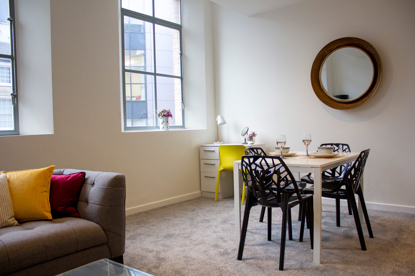 Dining area at Colonial Chambers, Ropewalks, Liverpool - Citybase Apartments